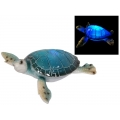 Blue Marble Turtle with Light