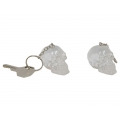 Crystallised Skull Head Keyring