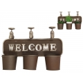"""Cast Iron Taps & Pot Holders """"Welcome"""" Wall Plaque (Large)"""