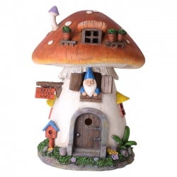 Fairy Garden Solar Light House (Mushroom)