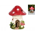 Fairy Garden Mushroom House with Frogs