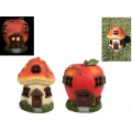 Fairy Garden Solar Light Mushroom/Apple House