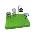 Fairy Garden Miniature Metal & Glass Furniture