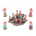 Mermaids on Coral & Rocks Display Pack