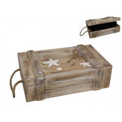 Beach Box with Starfish Design (Large)
