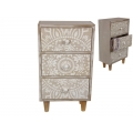 BoHo/Mandala Design Three Drawer Chest
