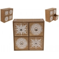 BoHo/Mandala Design Four Drawer Cabinet