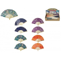 Fabric & Bamboo Oriental Fan