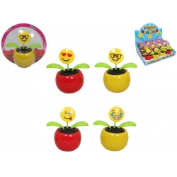 Solar Powered Emoji Flower Groover