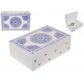 BoHo/Mandala Blue & White Design Box