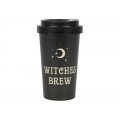 """Witches Brew"" Black Travel Mug with Sleeve"