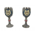 Mythical White Wolf Wine Goblet