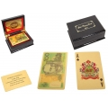 Gold AUD$100 Design Playing Cards Deck in Display Box