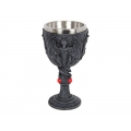 Celtic Dragon Design Chalice/Goblet with Red Gems