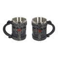 Celtic Cross Design Mug with Red Gem Star