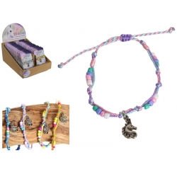 Unicorn Charm Bracelet on Inspirational Gift Card