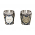 Mythical White Wolf Shot Glass