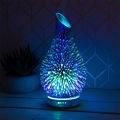 Aroma Oil Humidifier Colour Changing Lamp (Blue Starburst)