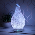 Aroma Oil Humidifier Colour Changing Lamp (White Glitter)