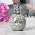 Air Purifying Wick & Flame Method Fragrance Oil Lamp (Silver)