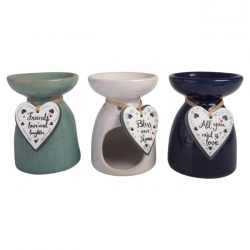 Ceramic Inspirational Heart Oil Burner