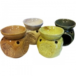 Ceramic Oil Burner (Flower)