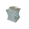Ceramic Oil Burner with Stand (White)
