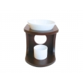 Ceramic Oil Burner with Stand (Choc)