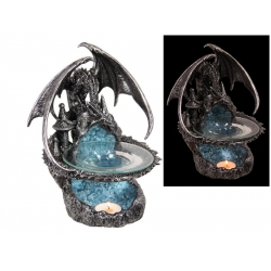 Dragon on Castle Geode Oil Burner