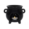 Black Ceramic Cauldron Oil Burner