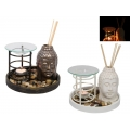 Ceramic Buddha Oil Burner/Diffuser Gift Set