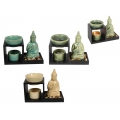 Ceramic Buddha Oil Burner Gift Set