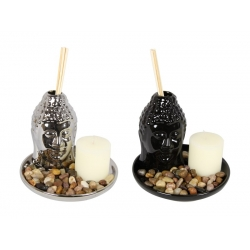 Ceramic Buddha Oil Diffuser, Candle & Oil Gift Set