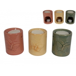 Ceramic Butterfly Oil Burner & Oil Gift Pack
