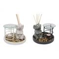 Ceramic Elephant Oil Burner/Diffuser Gift Set