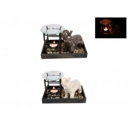 Ceramic Elephant Oil Burner Gift Set