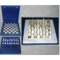 Green Onyx/Marble Stone Chess Set in Case