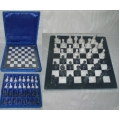 Green Onyx/Marble Stone Chess Set in Case (Large)