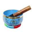 Chakra Symbol Tibetan Singing Bowl (Blue)
