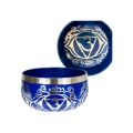 Chakra Symbol Tibetan Singing Bowl (Cobalt Blue)