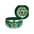 Chakra Symbol Tibetan Singing Bowl (Green)