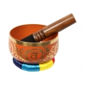 Chakra Symbol Tibetan Singing Bowl (Orange)