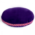 Velvet Singing Bowl Cushion - Purple (Medium)