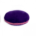 Velvet Singing Bowl Cushion - Purple (Small)