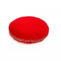 Velvet Singing Bowl Cushion - Red (Small)