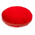 Velvet Singing Bowl Cushion - Red (Medium)