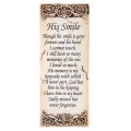 """His Smile"" Memorial Wall Plaque"