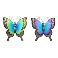 Metal & Glass Garden Butterfly Wall Art