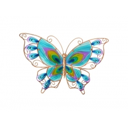 Metal & Glass Butterfly Wall Art