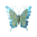 Metal Blue Butterfly Wall Art (Large)